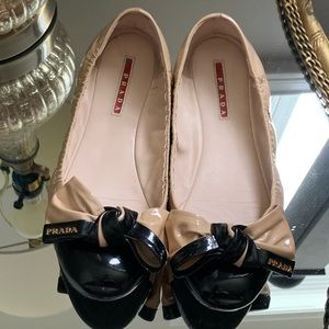 Prada patent leather ballerina flats